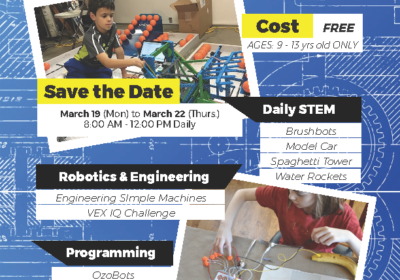 2018 HCF B-Cubed: Building Better Bots – STEM Spring Camp